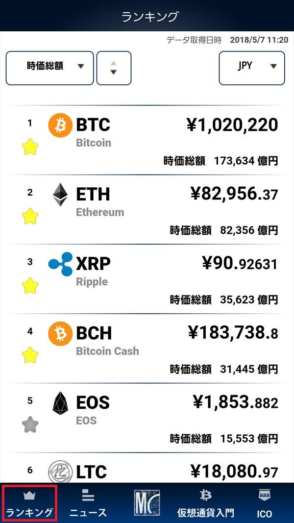MY仮想通貨アプリ_ランキング
