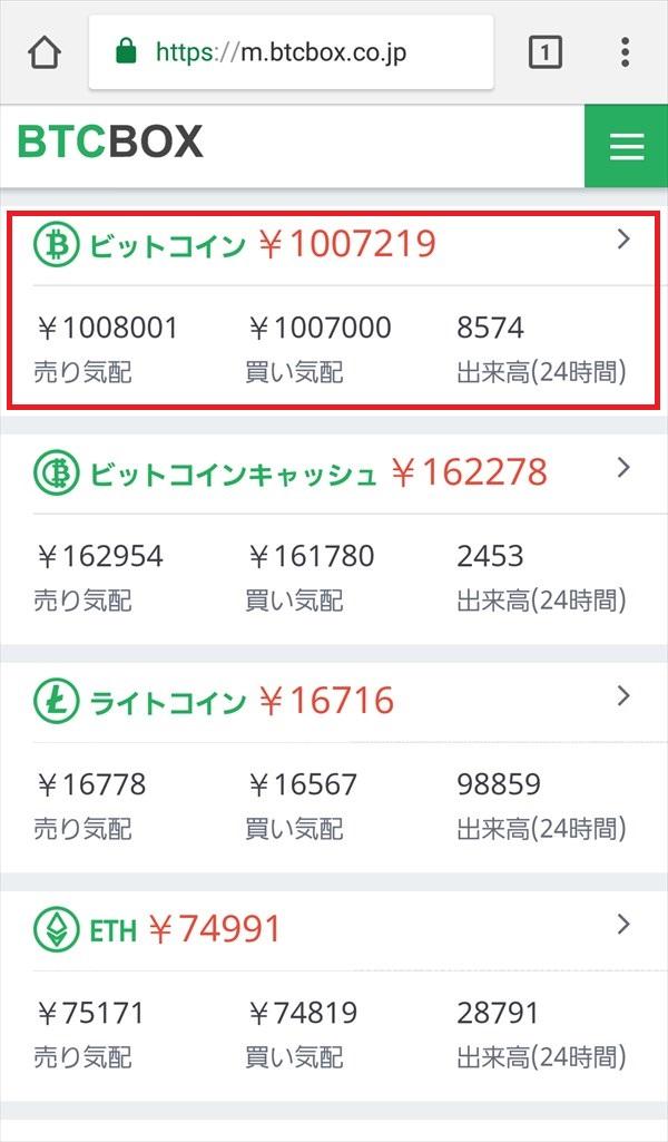 BTCBOX_仮想通貨取引相場一覧2