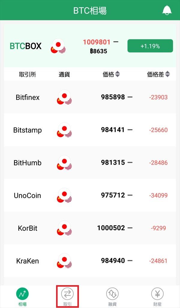 BTCBOXアプリ_相場1
