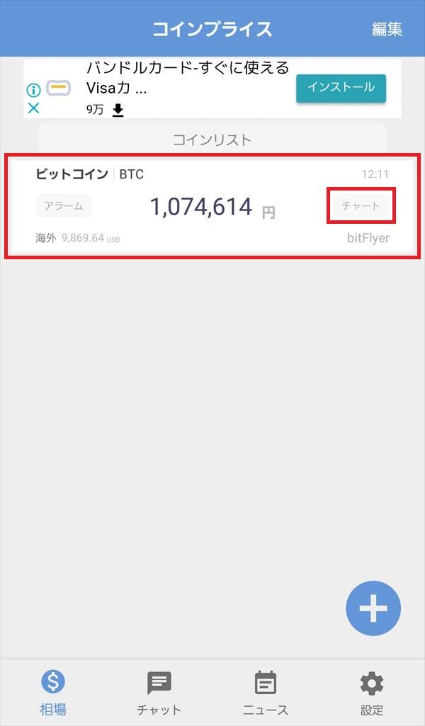 コインプライスアプリ_相場_bitFlyer_BTC/JPY