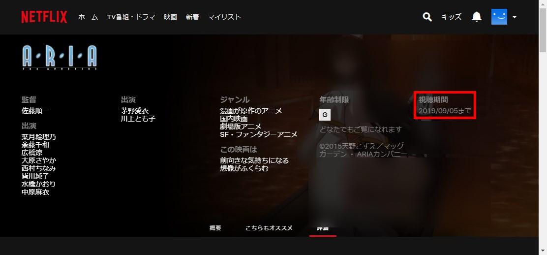 Netflix_ARIA_詳細_視聴期間