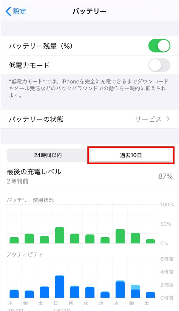 iPhone_バッテリー_過去10日