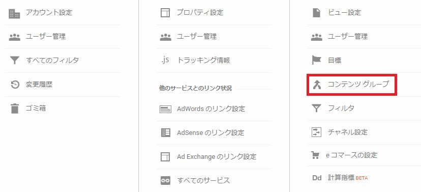 Googleアナリティクス_コンテンツグループ