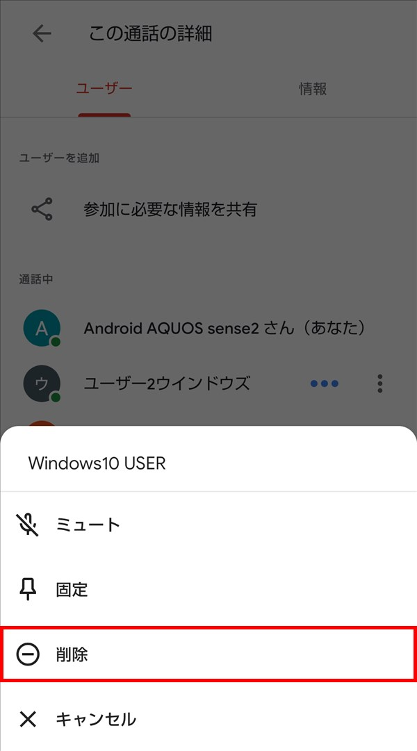 Android版Google_Meet_この通話の詳細_ユーザー_削除