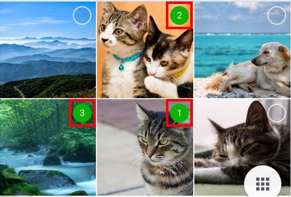 Android版LINE_写真の順番を指定